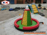 backyard equipment - inflatable rock safe climbing wall Rocket model inflatable rock climbing sports equipment