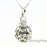 ball pendant necklace - ball essential oil diffuser necklace diffuser pendants essential oil diffuser jewelry aromatherapy necklaces metal volcanic stone
