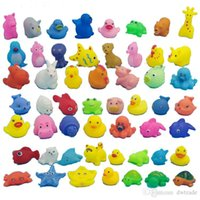 Wholesale 2015 kids Rubber water toys toddler baby bath swimming toys yellow ducks Animal BB call sound dolls kids gift J071301 DHL