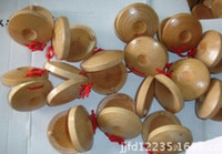 Wholesale Wooden Sounding Boards Round Dance Board Plate Musical Instruments Toys