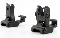 arms folding front sight - Iron Folding L F R Set Front Rear Flip up Back up ARMS Polyme Tactical Sites Sights Black