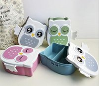 plastic lunch box - 2016 Cartoon Owl Lunch Box Kids Leakproof Childrens Lunch Box Multicolors Cute Single Layer cm Owl Box