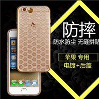 apple etching - New Electroplating Laser Etching Soft TPU Ultra Thin Slim Crystal Clear Phone Cover Case For iPhone S inch MOQ