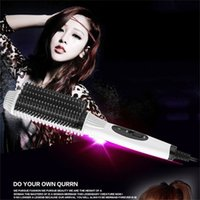 Wholesale Hair Curling Straighten Two Uses Styling Tool Curling Iron Electronic Temperature Controls with US AU EU UK Plug