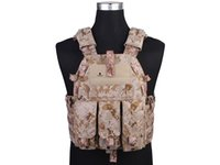 Wholesale 094K M4 Pouch Molle Vest Hunting Game Tactical Vest Airsoft Combat Outdoor Nylon Vest Gear AOR1