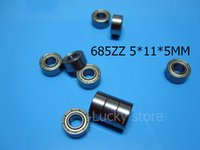 685ZZ ABEC-5 cojinetes miniatura sellados metal 10pcs que envían libremente 685 685Z 685ZZ 5 * 11 * 5m m cojinete de acero del cromo