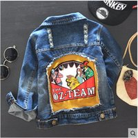 baby boy jean jacket - Foreign trade spring autumn casual jean denim coat and jackets baby boy clothing kids long sleeve no fade
