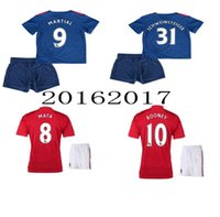 manchester - Whosales New MancHester Jerseys Soccer Jerseys UITED soccer Uniforms kit sets Discount Martial mata Thai Quality ROONEY Memphis