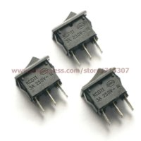 Wholesale Pin A V Black Button Rocker Switch KCD11 On Off Import Rocker Power Switches MM MM