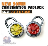Wholesale Hardened Steel Shackle Dial Combination Luggage Suitcase Locker Padlock