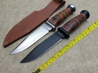 ka-bar - KA BAR USN MK1 New Leather Handle MM Blade C Survival Bowie Hunting Knife USN MK1