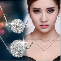 Wholesale Summer women solid Imitation platinum heart pendant Multi layer necklace hollow round alloy accessory Tassels chain necklaces