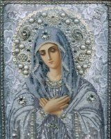 antique religious paintings - 5D Round Diamond Painting Diy Diamond Painting Cross Stitch Home Decor Diamond Embroidery Mosaic Religious for People Gift cm