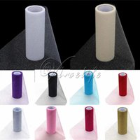 Wholesale 10PCS Rolls quot x10yd Multicolors Glitter Shimmering Tulle Roll for Wedding Gift Bow Carft Tutu Shirt Wedding Decoration Product Top quality