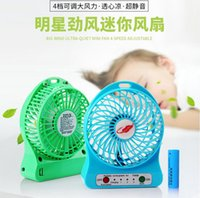 Wholesale Free F95B Portable Mini USB Fan Rechargeable Battery Operated LED Lamp for Indoor Outdoor Kids Table Battery