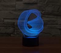 Precio de Tonelada de color-3D iLLusion Bulding Luz Ton LED lámpara, 7 colores cambian luces de escultura de arte produce único