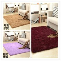 Wholesale 10 Colors mm mm Long Plush Shaggy Soft Carpet Area Rug Slip Resistant Door Floor Mat For Bedroom or Living Room