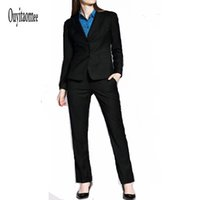beautiful casual dresses - Business Attire Work Long Sleeves Dress Uniform Coverall Suits White Collar Female Fashion Clothes Beautiful and Easy Jacket and Pant