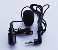 Wholesale 1m ft metal Lapel tie clip microphone mic mm jack plug for Voice amplifiers