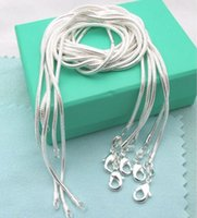 Wholesale Hot Sale silver smooth snake chains Necklace MM snake chain mixed size inch