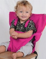 Wholesale Candy colors baby Portable Seat Cover Sack n Seat Kids Safety Seat Cover Baby Upgrate Baby Eat Chair Seat Belt ZD100A
