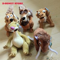 age tigers - Cartoon Movie Ice Age cm Elephant Bradypod Squirrels Tiger Plush Soft Doll Animal Stuffed Toy For Baby Kids Birthday Gift