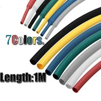 Wholesale 1M mm Insulated Heat Shrink Tubing Sleeving USB Power Charging Cable Sleeve Wrap Colors