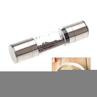Wholesale 2 in Stainless Steel Portable Manual Salt and Pepper Mill Grinder Muller Kitchen Accessories Seasoning Grinding Cooking Tools