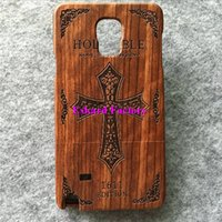 bible house - For Galaxy Note Coque Natural Eco Friendly Rosewood Wooden Mobile Phone Back Cover Housing For Samsung Galaxy Note HOLY BIBLE