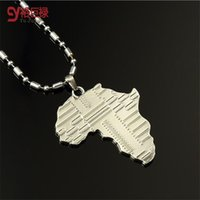 africa stamps - Ship from US U7 Africa Pendant quot KGP quot Stamp Platinum K Real Gold Plated Trendy Women African Map Pendant Necklace Hiphop Men Jewelry