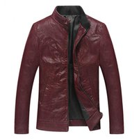 auto jacket - Fall Jaquetas de Couro Brazil Men s Red Leather Jackets Male Autos Biker Overcoats By Air Cool Mens Leather Blazer XL S1726
