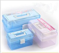 Wholesale Nail Beauty Box Large Nail Tool Box Jewelry Box Manicure Set Suit Pink Blue