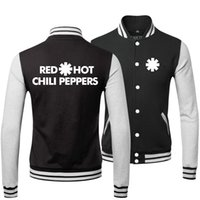 best black pepper - Best Sell High Quality Clothers Warm Winter Coats England Style Printed Chili Peppers Rock Band Black Baseball Jacket Men