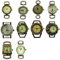 Wholesale Set Fixed Mixed Retro Quartz Watch Faces Bronze Tone For DIY Watches Beading Fine Jewelry Bracelets Necklaces Making