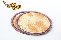 Wholesale Bamboo Coaster Creative kitchen two pieces Anti scald Insulation pads Placemat Skid potholder Bowl pad Doily lovely on sale gift china print