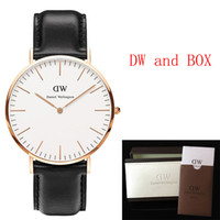 best leather watches - Best Luxury Top Brand DanielWellington DW Watch Women Mens watches Nylon Leather Strap Gold Dial Couple Quartz Wristwatch Relojes Gift Box
