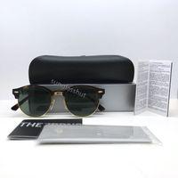 half full - 2016 New Classic Sunglasses For Men Women Retro Round Tortoise Sun Glasses with G15 Lens Metal Hinge and Full Package KS4246