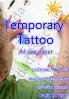 Wholesale A4 size Temporary tattoo boday art Tattoo Paper water transfer type tattoo inkjet printer free post worldwide