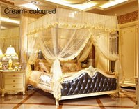 Wholesale Royal Court Palace Mosquito Net Lace Net Mesh Mosquito Net For person Stainless Stell Tube Non Install Factory Direct