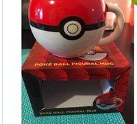Wholesale Smart Poke Ball Pikachu mugs Handgrip Ceramic Coffee Mug tea Cup for boy girl surprise gifts