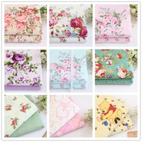 Wholesale New m Cotton Fabrics Cloth For Sewing DIY Handmade Hometextile Cloth Dress Curtain Flower Series Big Patchwork Korea Style Width cm