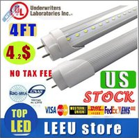 Wholesale USA stock T8 G13 ft Led Tube m Lights W W Warm Cool White Led Fluorescent Tube Bulbs AC85 V CE UL FCC years warranty