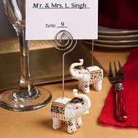 Wholesale Good Luck Elephant place card holder favors Elephant card holder wedding favors Party Favors