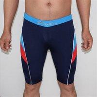 Cheap Boys racing swimwear child competitive swimsuits swimming trunks men swimsuit mens swim New Fashion Men's Boxer Shorts Diving Swimming