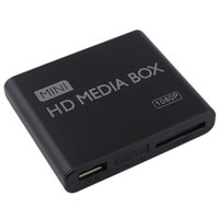 Wholesale AU EU US Plug Mini Media Player HDMI Media Box TV Video Multimedia Player Full HD p Support MPEG MKV H HDMI AV USB Black