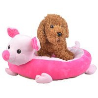 Wholesale Cartoon Dog Nest Cotton Dog Cat Bed Lovely Pet Mat Cushion Puppy Pet Sleeping Bag Dog House Moisture proof Pink Pig Green Tortoise F
