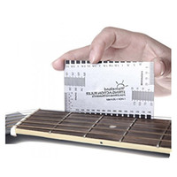 acoustic guitar kits - Stainless Steel String Action Ruler Gauge Tool Guitar Measuring Kit for Electric Bass and Acoustic Guitar
