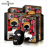 baby skin care products - ZAKKA BABY Facial Mask Japanese Bamboo Charcoal Moisturizing Black Mask Face Care Mask Whitening Skin Care Beauty Makeup Product DHL Free