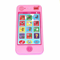 baby mobile blue - Educational simulationp music mobile phone G the latest version of russian language Baby phone Toy Phone