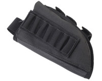 Wholesale Airsoft Paintball Rifle Stock Ammo Pouch with Cheek Leather Pad High Quality Hunting Nylon Pouch for Left Hand